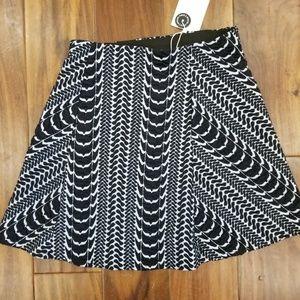 Zara Trafaluc Textured Black White Mini Skirt